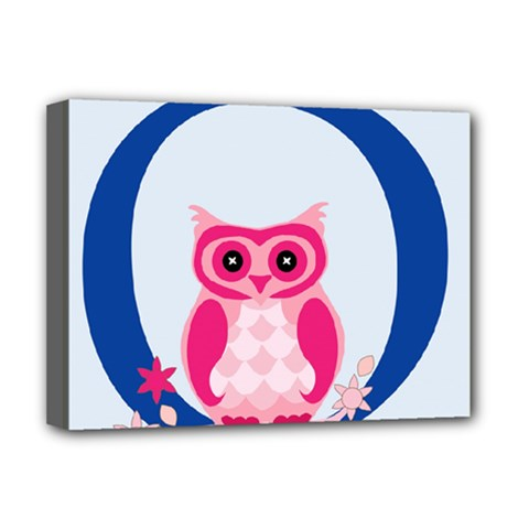 Alphabet Letter O With Owl Illustration Ideal For Teaching Kids Deluxe Canvas 16  X 12   by Nexatart