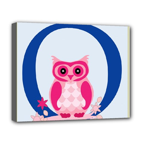 Alphabet Letter O With Owl Illustration Ideal For Teaching Kids Deluxe Canvas 20  X 16   by Nexatart