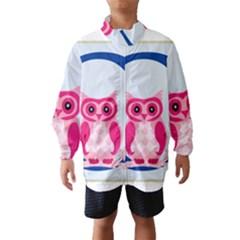 Alphabet Letter O With Owl Illustration Ideal For Teaching Kids Wind Breaker (kids) by Nexatart