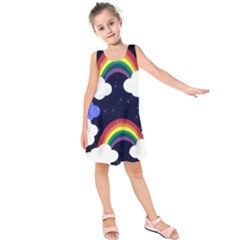 Rainbow Animation Kids  Sleeveless Dress