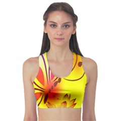 Butterfly Background Wallpaper Texture Sports Bra