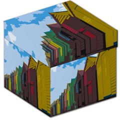 Brightly Colored Dressing Huts Storage Stool 12   by Nexatart