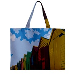 Brightly Colored Dressing Huts Zipper Mini Tote Bag by Nexatart