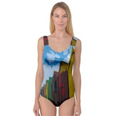 Brightly Colored Dressing Huts Princess Tank Leotard  by Nexatart