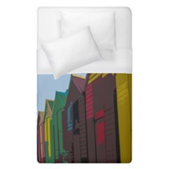Brightly Colored Dressing Huts Duvet Cover (single Size) by Nexatart