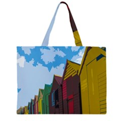 Brightly Colored Dressing Huts Zipper Large Tote Bag by Nexatart