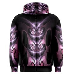 Angry Mantis Fractal In Shades Of Purple Men s Zipper Hoodie