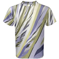 Wavy Ribbons Background Wallpaper Men s Cotton Tee