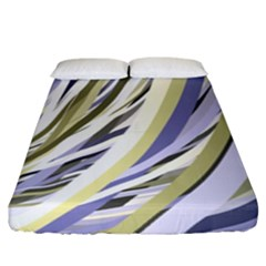 Wavy Ribbons Background Wallpaper Fitted Sheet (king Size) by Nexatart
