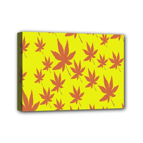Autumn Background Mini Canvas 7  X 5  by Nexatart
