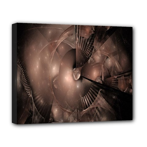A Fractal Image In Shades Of Brown Deluxe Canvas 20  X 16   by Nexatart