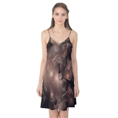 A Fractal Image In Shades Of Brown Camis Nightgown
