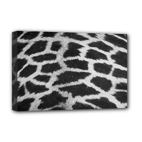 Black And White Giraffe Skin Pattern Deluxe Canvas 18  X 12
