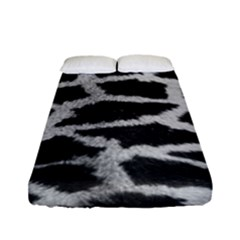 Black And White Giraffe Skin Pattern Fitted Sheet (full/ Double Size) by Nexatart