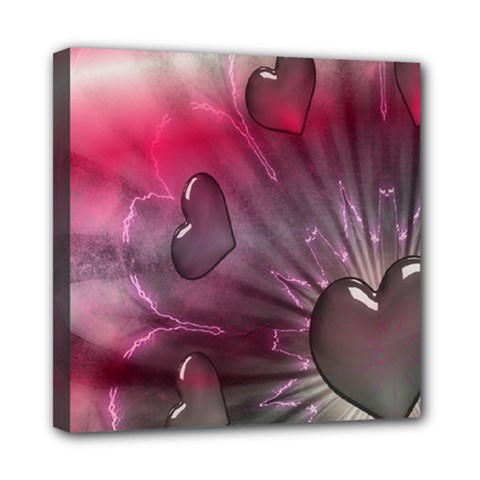 Love Hearth Background Wallpaper Mini Canvas 8  X 8  by Nexatart