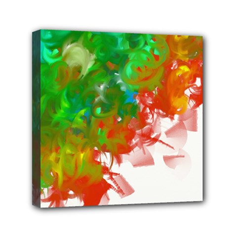 Digitally Painted Messy Paint Background Textur Mini Canvas 6  X 6  by Nexatart