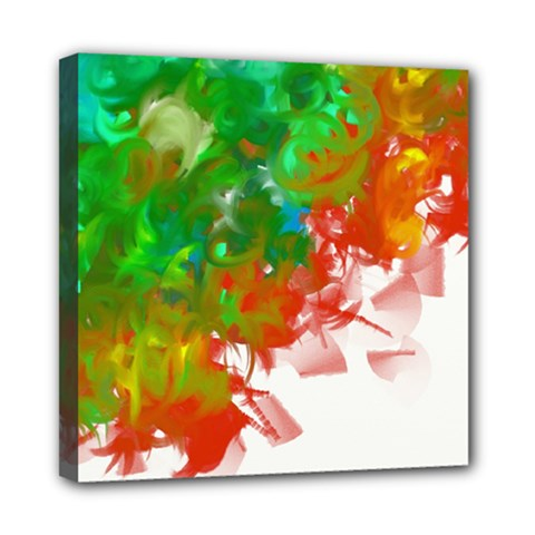 Digitally Painted Messy Paint Background Textur Mini Canvas 8  X 8  by Nexatart