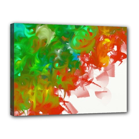 Digitally Painted Messy Paint Background Textur Canvas 16  X 12  by Nexatart