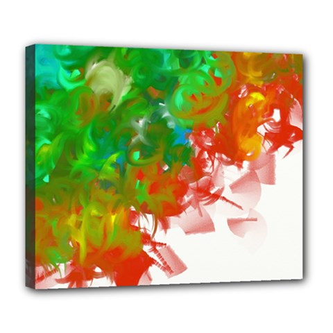 Digitally Painted Messy Paint Background Textur Deluxe Canvas 24  X 20   by Nexatart