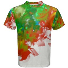 Digitally Painted Messy Paint Background Textur Men s Cotton Tee by Nexatart