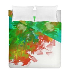 Digitally Painted Messy Paint Background Textur Duvet Cover Double Side (full/ Double Size) by Nexatart