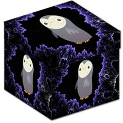 Fractal Image With Penguin Drawing Storage Stool 12   by Nexatart