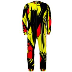 Easy Colors Abstract Pattern Onepiece Jumpsuit (men)  by Nexatart