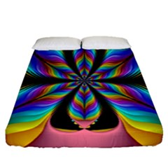 Fractal Butterfly Fitted Sheet (queen Size)
