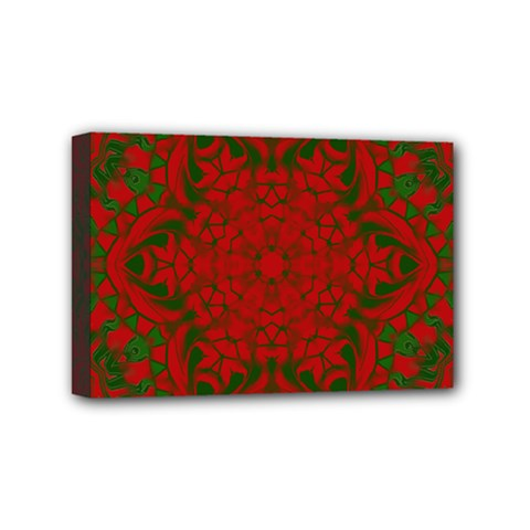 Christmas Kaleidoscope Mini Canvas 6  X 4  by Nexatart