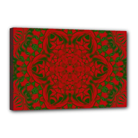 Christmas Kaleidoscope Canvas 18  X 12  by Nexatart