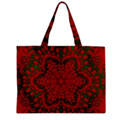 Christmas Kaleidoscope Zipper Mini Tote Bag