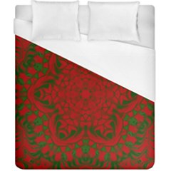 Christmas Kaleidoscope Duvet Cover (california King Size) by Nexatart