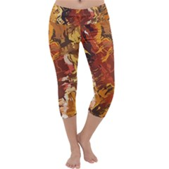 Abstraction Abstract Pattern Capri Yoga Leggings by Nexatart