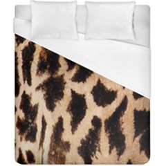 Giraffe Texture Yellow And Brown Spots On Giraffe Skin Duvet Cover (california King Size) by Nexatart