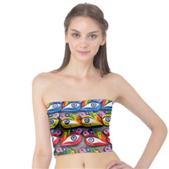 The Eye Of Osiris As Seen On Mediterranean Fishing Boats For Good Luck Tube Top by Nexatart