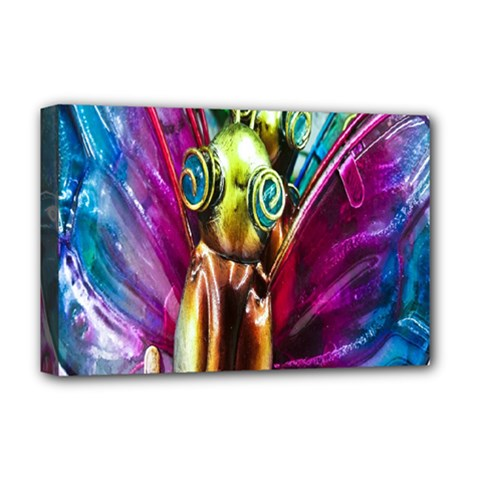 Magic Butterfly Art In Glass Deluxe Canvas 18  X 12   by Nexatart