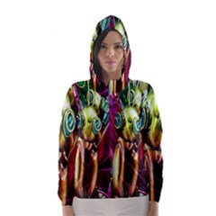 Magic Butterfly Art In Glass Hooded Wind Breaker (women)