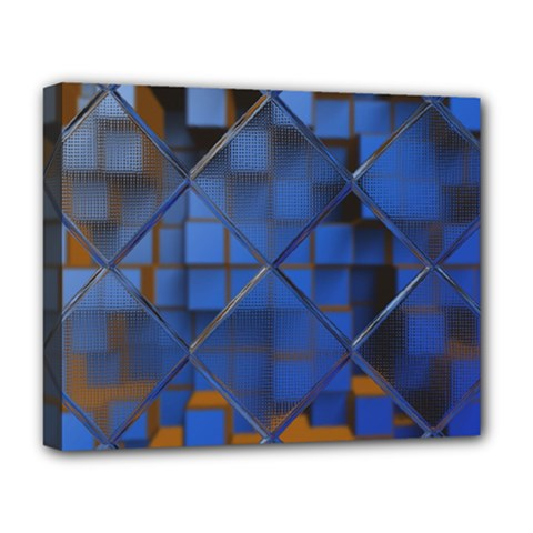 Glass Abstract Art Pattern Deluxe Canvas 20  X 16   by Nexatart