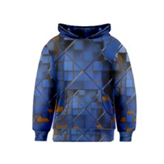 Glass Abstract Art Pattern Kids  Pullover Hoodie by Nexatart
