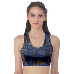 Background Abstract Art Pattern Sports Bra by Nexatart