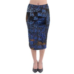 Background Abstract Art Pattern Midi Pencil Skirt