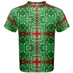 Geometric Seamless Pattern Digital Computer Graphic Men s Cotton Tee