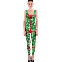 Geometric Seamless Pattern Digital Computer Graphic Onepiece Catsuit by Nexatart
