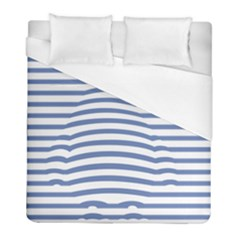 Animals Illusion Penguin Line Blue White Duvet Cover (full/ Double Size) by Mariart