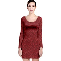 Bicycle Guitar Casual Car Red Long Sleeve Velvet Bodycon Dress by Mariart
