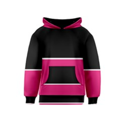 Black Pink Line White Kids  Pullover Hoodie by Mariart