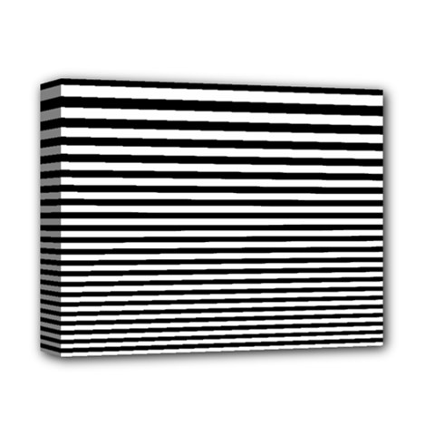 Black White Line Deluxe Canvas 14  X 11  by Mariart