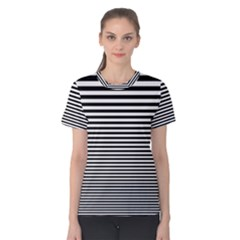 Black White Line Women s Cotton Tee by Mariart