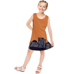 City Building Orange Kids  Tunic Dress by Mariart