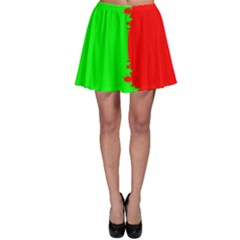 Critical Points Line Circle Red Green Skater Skirt by Mariart